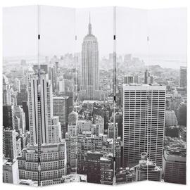 Ширма VLX Folding Room Divider New York by Day, белый/черный, 200 см x 170 см