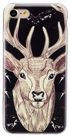 Mocco Fashion Case Glow In The Dark Deer For Apple iPhone 7 Plus/8 Plus Black
