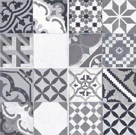 Keraminės dekoruotos grindų plytelės Moments Gris, 45 x 45 cm