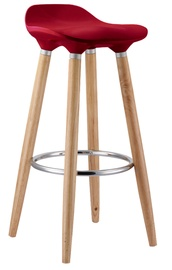 Home4you Abba Bar Stool Dark Red