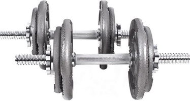 Xylo Cast Iron Dumbbells 2x10kg Silver/Gray
