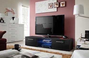 TV staliukas ASM Bono III Black/Black Gloss, 1800x450x350 mm