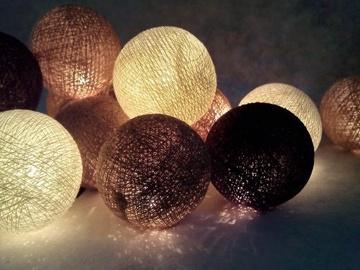 Girlianda Kamuoliukai, rudi, 10 LED, 1.2 m