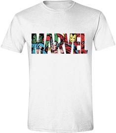 Licenced Marvel Logo T-Shirt White L