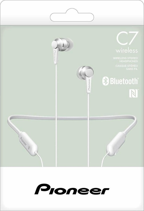 Pioneer SE-C7BT In-Ear Bluetooth Earphones White