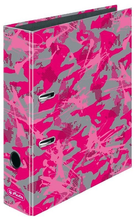 Herlitz Lever Arch File A4 Camouflage Pink