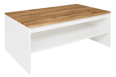 Kohvilaud Black Red White Holten White/Wotan Oak, 1100x650x455 mm