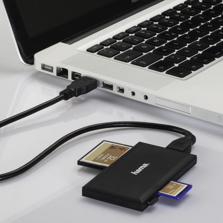 Картридер Hama Multi Card Reader USB 3.0 To SD/microSD/CF/MS Black