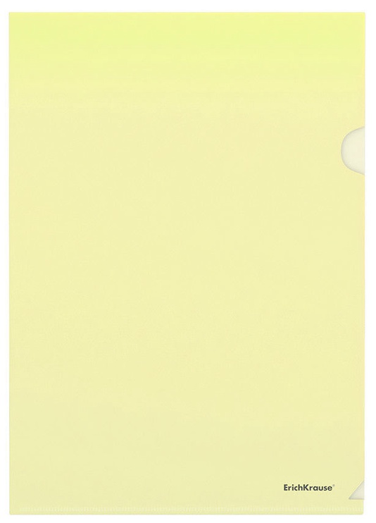ErichKrause Document Protector Clear Standard A4 10pcs Yellow