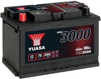 Аккумулятор Yuasa YBX3086, 12 В, 76 Ач, 680 а