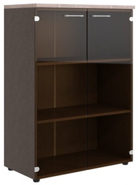 Skyland Xten XMC 85.2 Office Cabinet w/ Glass Door Sonoma Oak/Legno Dark