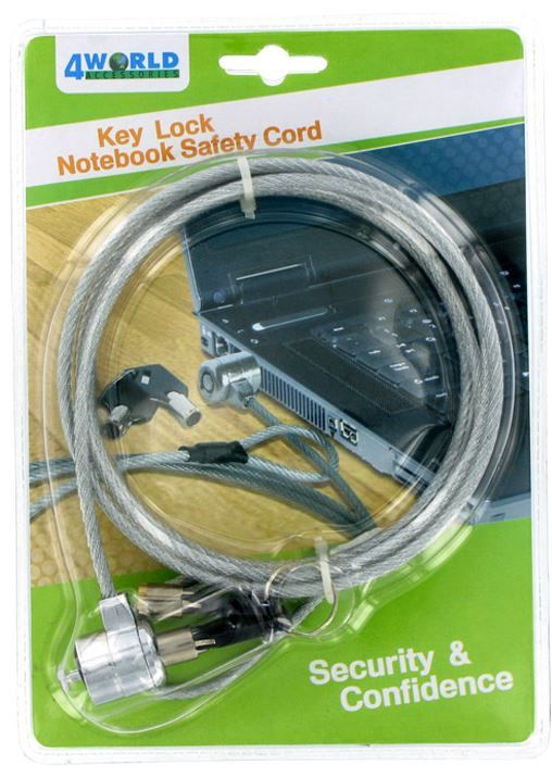 4World Notebook Security Cable Lock
