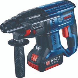 Bosch GBH18V-20 Cordless Rotary Hammer with 2x4Ah Batteries + GAL 18V-40