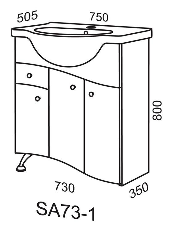 Vonios spintelė Riva SA73-1