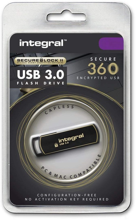 USB atmintinė Integral Secure 360, USB 3.0, 64 GB