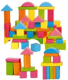 Woody Eco Wooden Educational Colored Building Blocks 75pcs