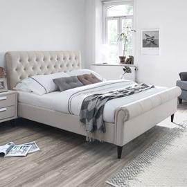 Gulta Home4you Lucia Bed Beige 160x200cm