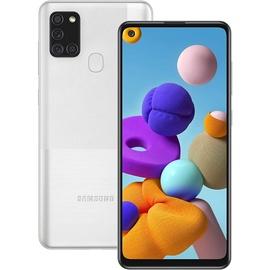 Мобильный телефон Samsung Galaxy A21s, серебристый, 3GB/32GB