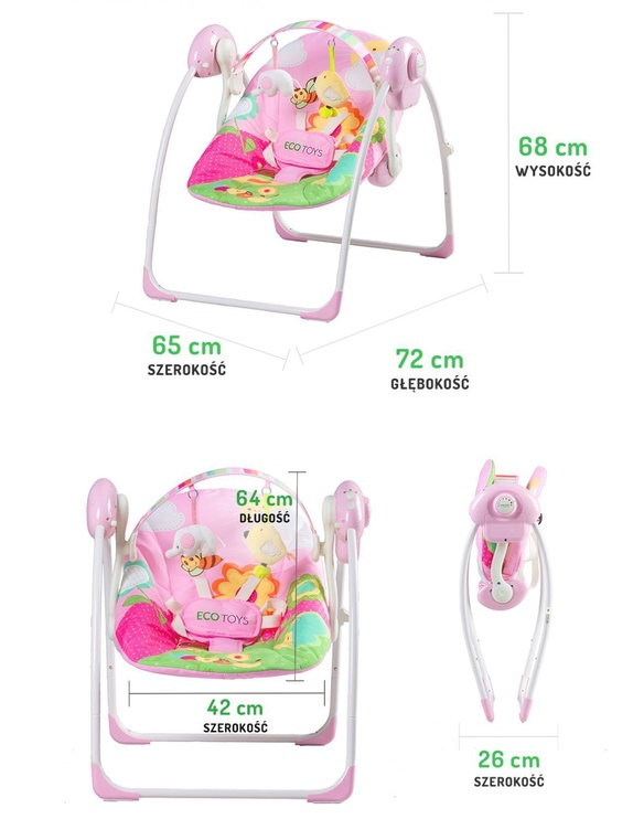 EcoToys Baby Rocking Chair 2306 Pink
