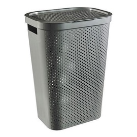 Curver Infinity Recycled Laundry Bin 60l Grey