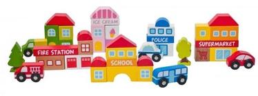 Izglītojošās rotaļlietas WOODY Eco Wooden City Blocks, 39 gab.