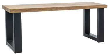 Скамейка Signal Meble Umberto Oak/Black, 1200x350x450 мм