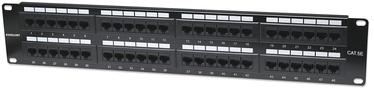 Intellinet Patch Panel 19'' UTP CAT 5e RJ45 x 48 2U Black