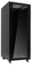 Netrack Standing Cabinet 32U/800x800mm Glass Black