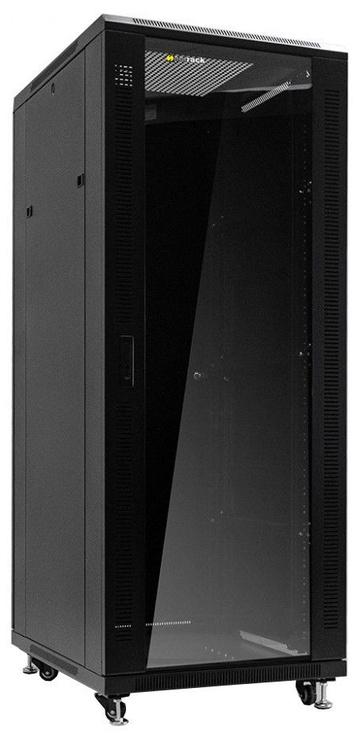Серверный шкаф Netrack Standing Cabinet 32U/800x800mm Glass Black