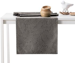 AmeliaHome Gaia AH/HMD Tablecloth Set Cocoa 115x200/35x200 2pcs