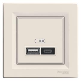 USB+C KONTAKTLIGZDA ASFORA 2.4A KREM