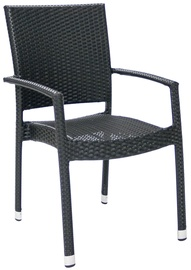 Home4You Armrest Chair Wicker 3 Black