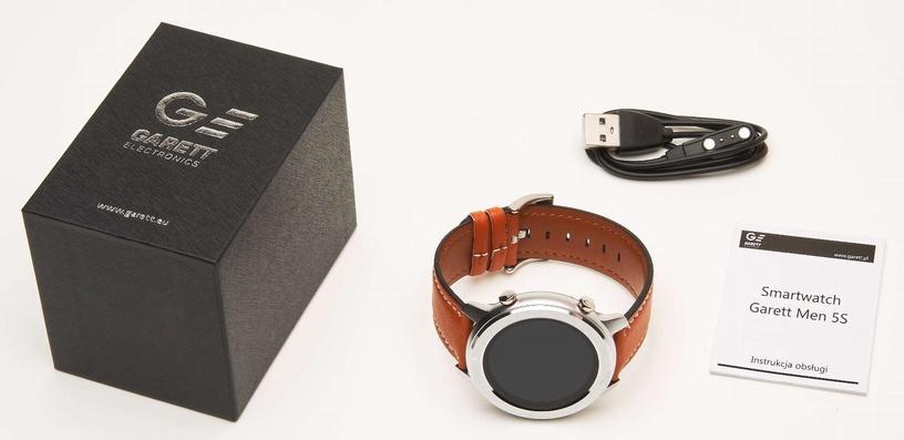 Išmanusis laikrodis Garett Men 5S Orange Leather