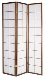 Vahesein Home4you Oriental Folding Screen w/ 3 Panels Walnut