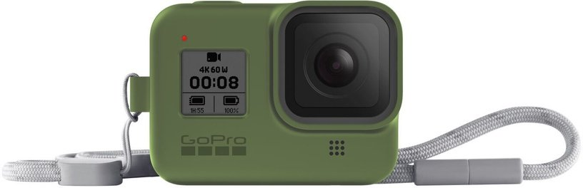 GoPro Sleeve + Lanyard For Hero8 Turtle Green