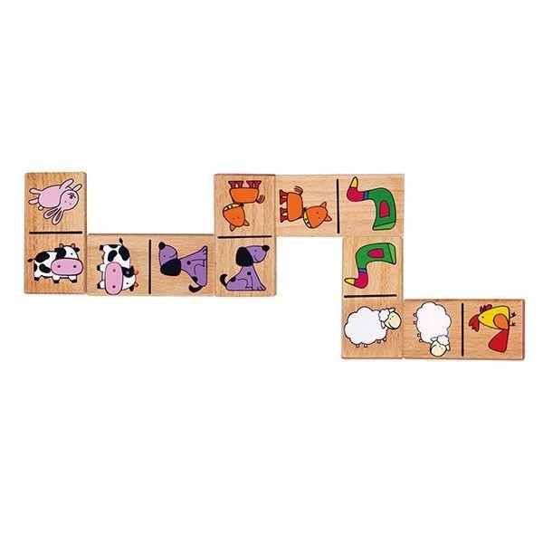 Viga Wooden Dominoes Farm Animals 59622