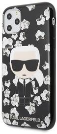 Karl Lagerfeld Flower Iconic Karl Back Case For Apple iPhone 11 Pro Black