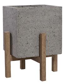 Home4you Sandstone Flowerpot 71844 36.5x36.5xH44.5cm Gray