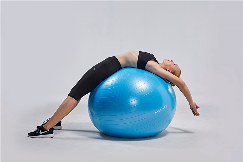 Nesprogstantis gimnastikos kamuolys Head HA758, Ø 95 cm, su pompa