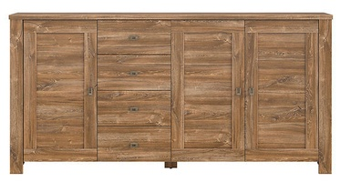 Black Red White Brussel Chest Of Drawers 40x203x100.5cm Oak