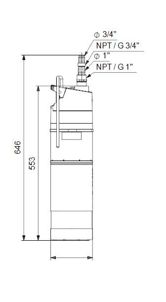 Salvkaevu pump Grundfos SBA 3-45M, 1,1 kW