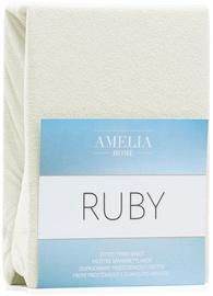 Palags AmeliaHome Ruby, bēša, 120x200 cm, ar gumiju