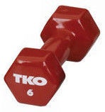 TKO Vinyl Dumbbell 6kg Red
