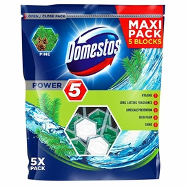 Domestos Pine Toilet Block 5pcs
