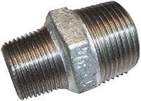 "Raccorfer Steel Reducing Nipple Zinc 1 1/2""x3/4"""
