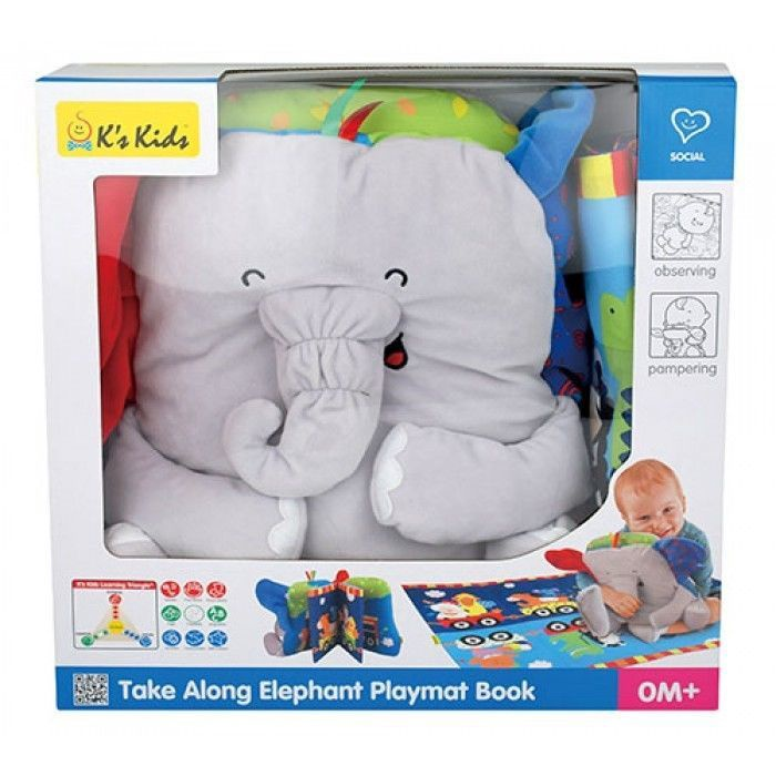 K's Kids Take Along Elephant Playmat Book