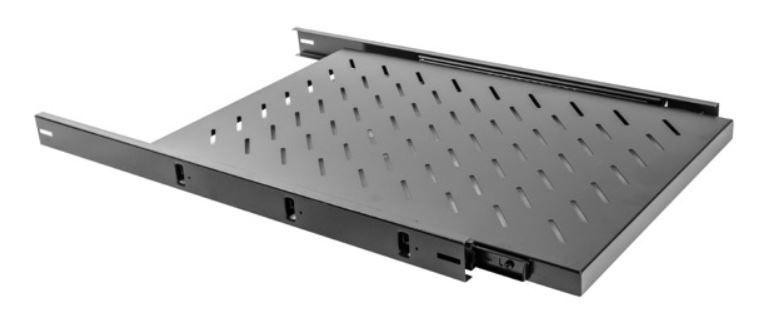 Lanberg Fixed Shelf 19'' 465x750mm Black