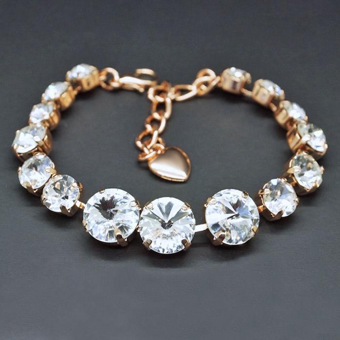 Diamond Sky Bracelet Rainbow II With Crystals From Swarovski