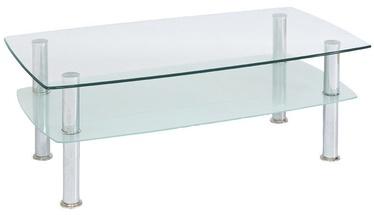 Kafijas galdiņš Signal Meble Landa Panda Transparent, 1100x600x420 mm