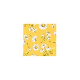 Salvetes 24cm pretty daisy yellow